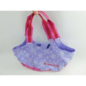 American Girl Stars Tote Bag Purple, Pink, White